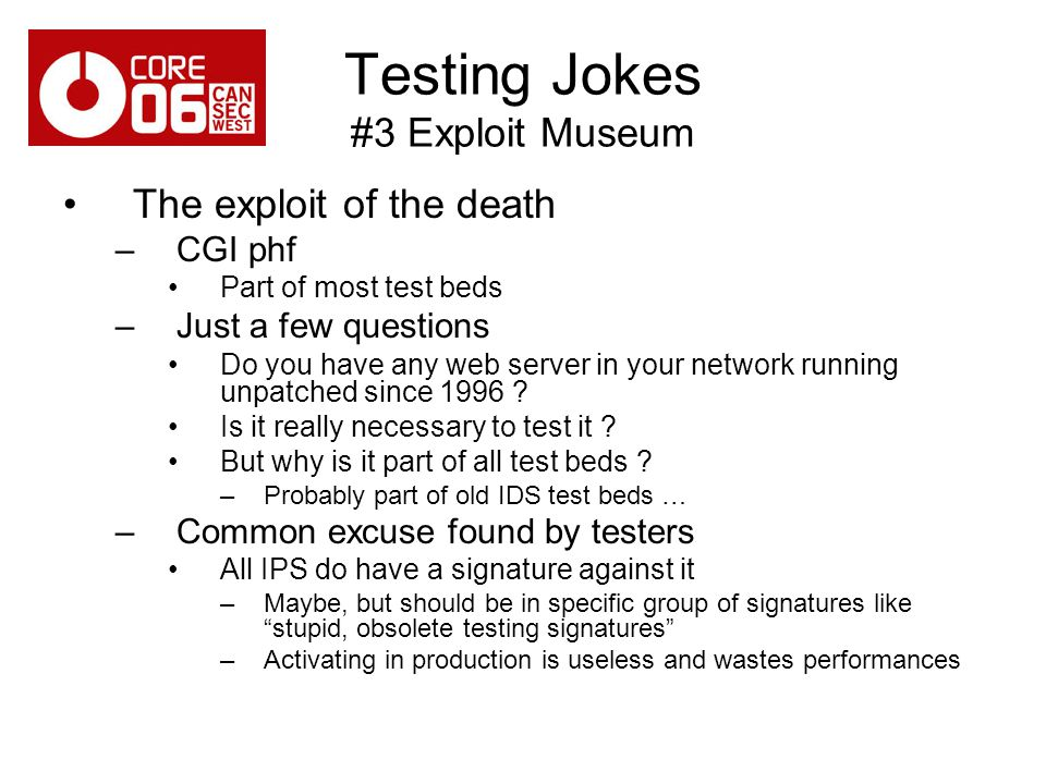 Testing Jokes #3 Exploit Museum