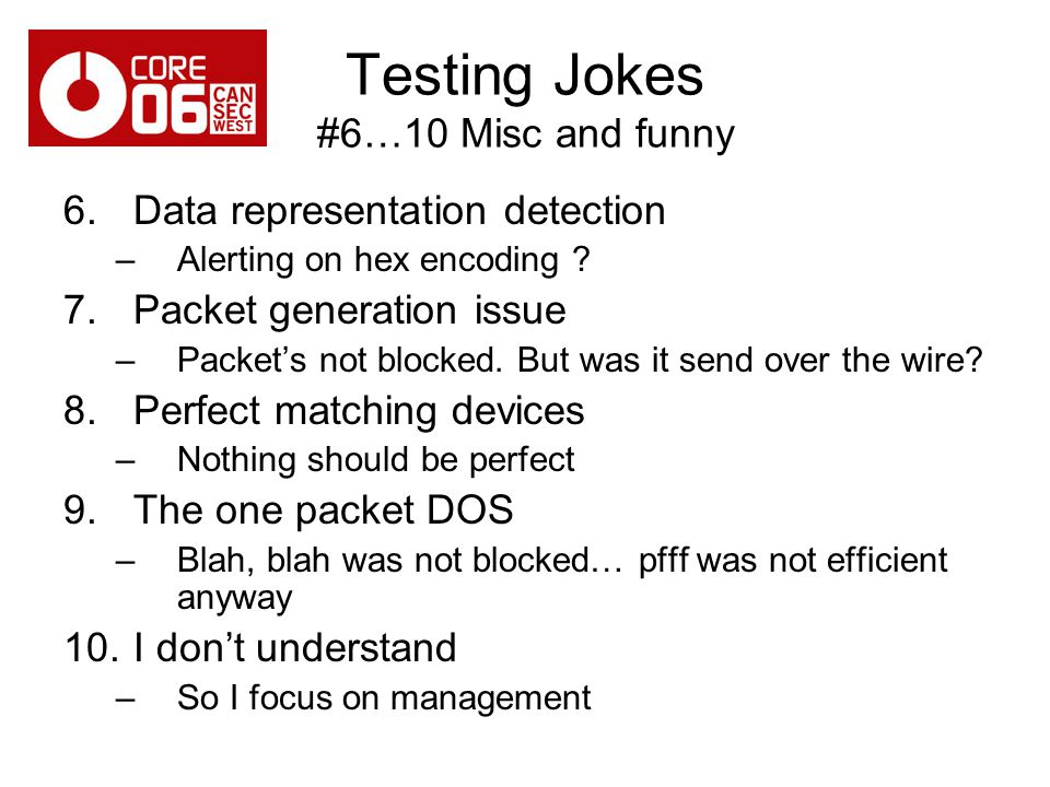 Testing Jokes #6…10 Misc and funny