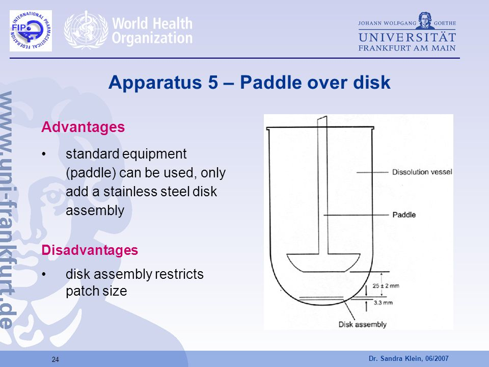 Apparatus 5 – Paddle over disk