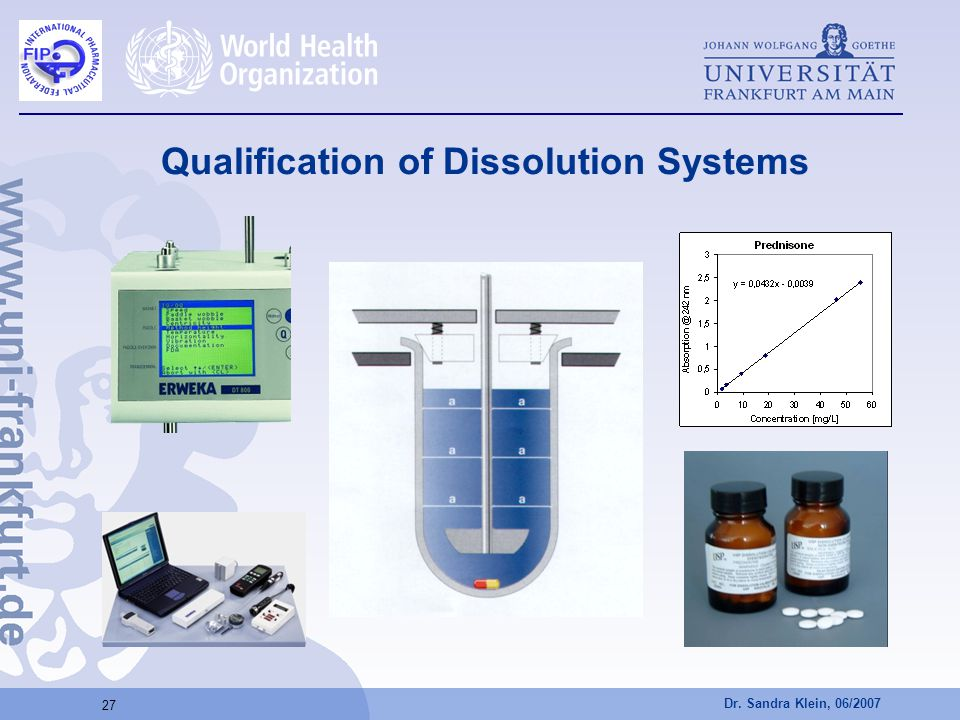Qualification of Dissolution Systems