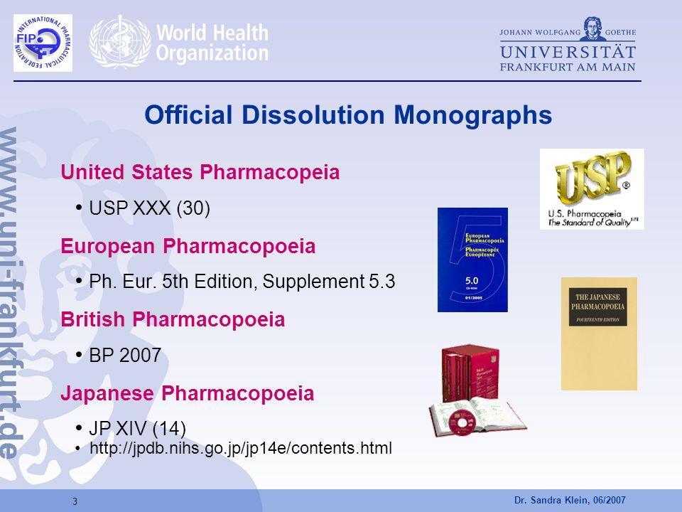 Official Dissolution Monographs