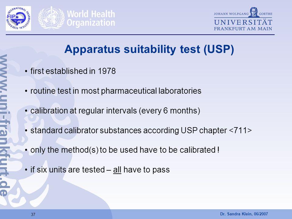 Apparatus suitability test (USP)