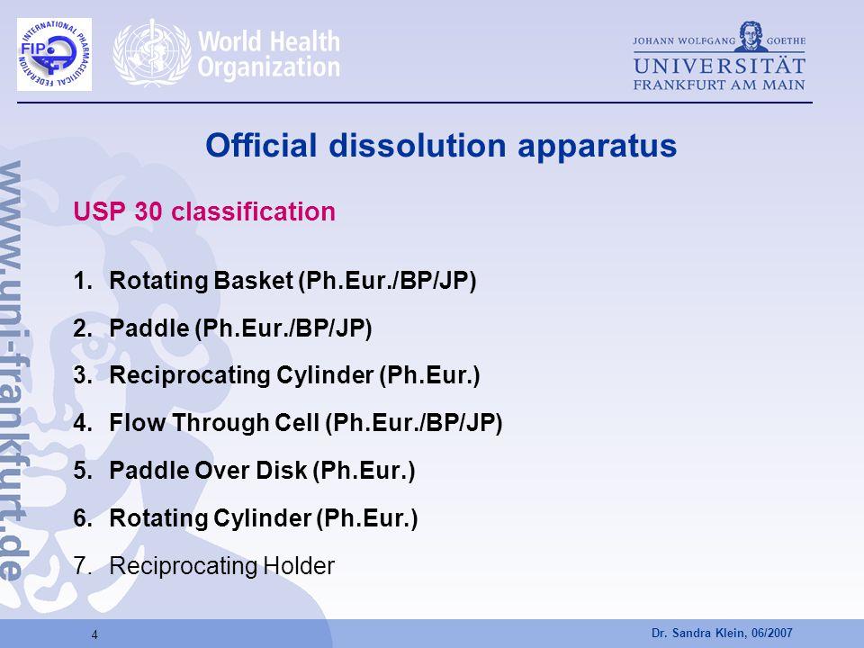 Official dissolution apparatus
