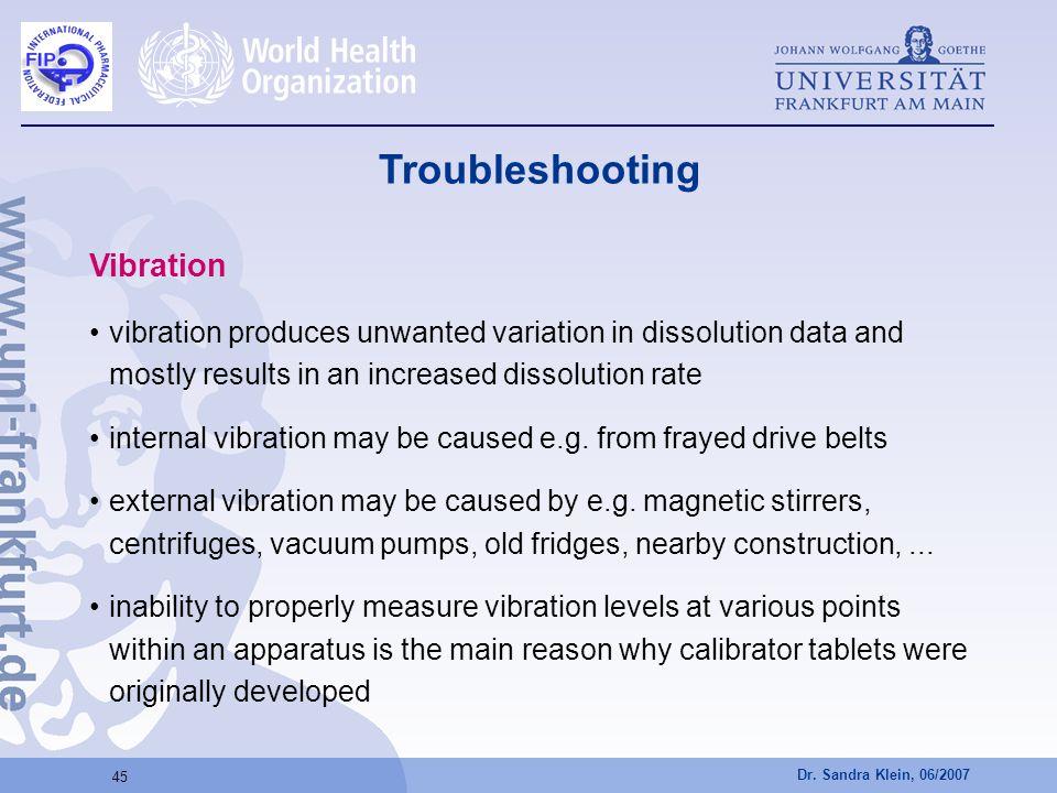 Troubleshooting Vibration