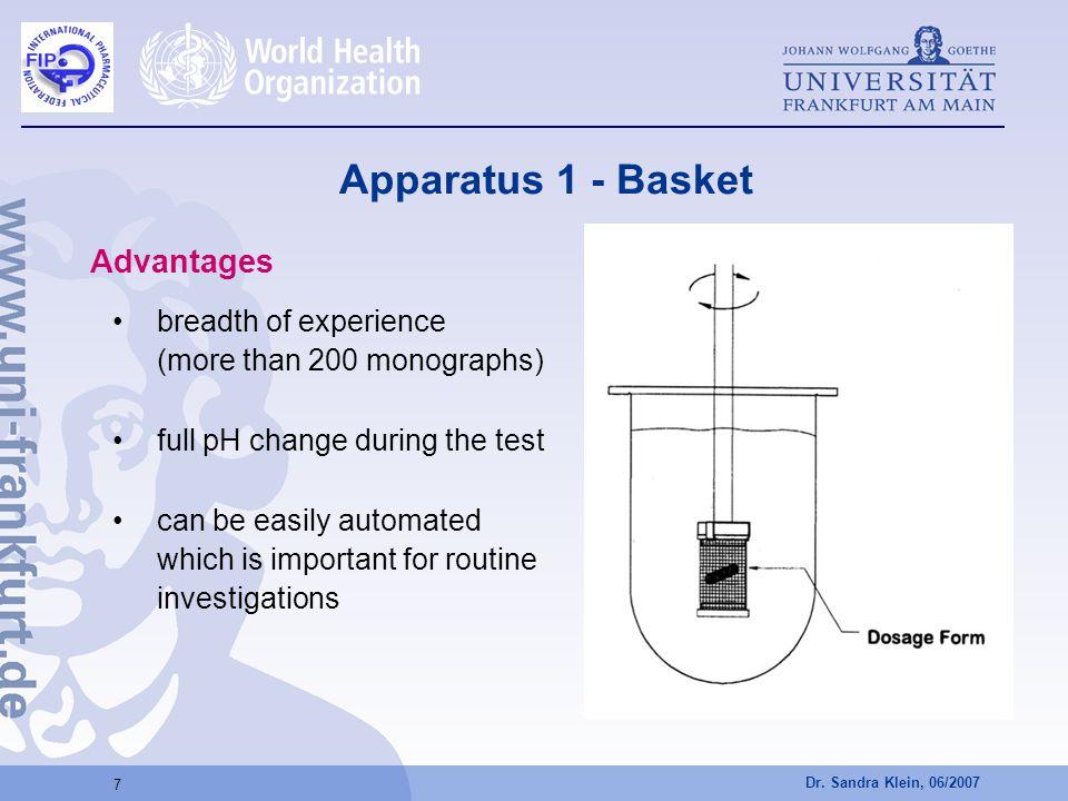 Apparatus 1 - Basket Advantages