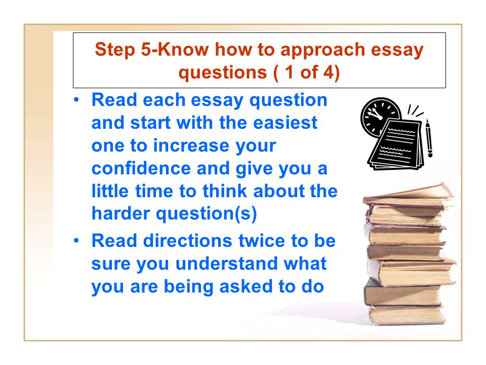 Step 5-Know how to approach essay questions ( 1 of 4)