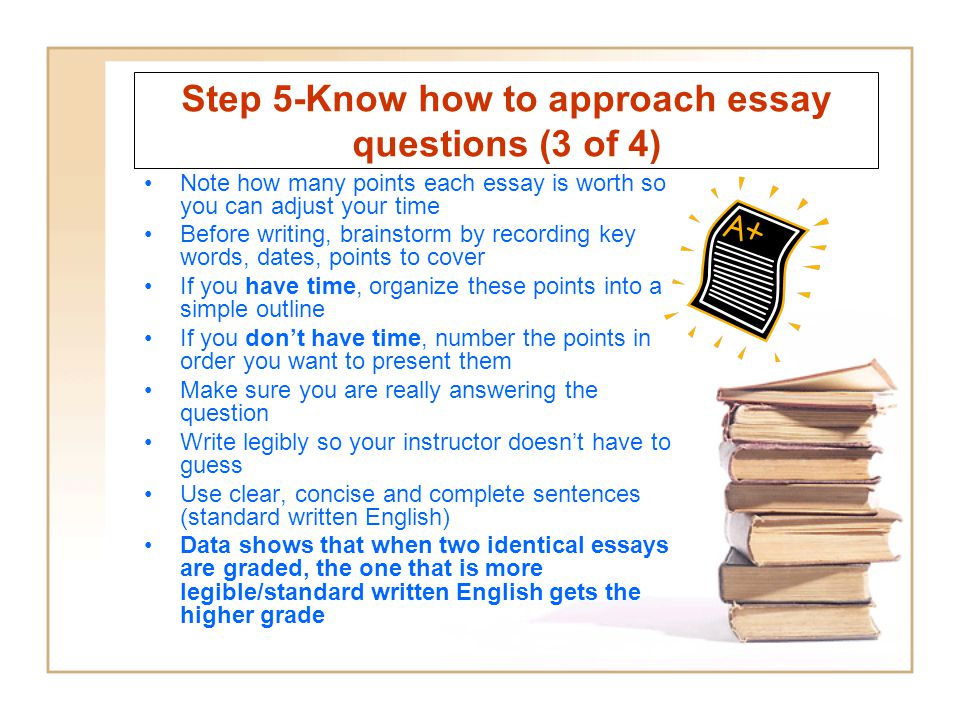 Step 5-Know how to approach essay questions (3 of 4)