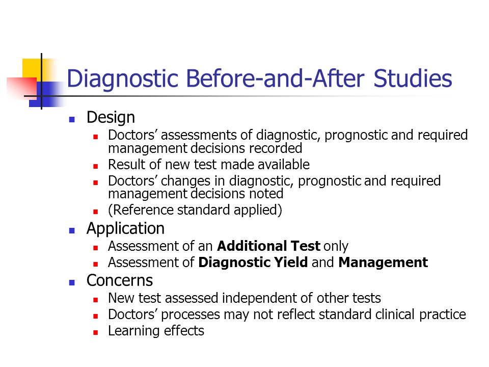 Diagnostic Before-and-After Studies