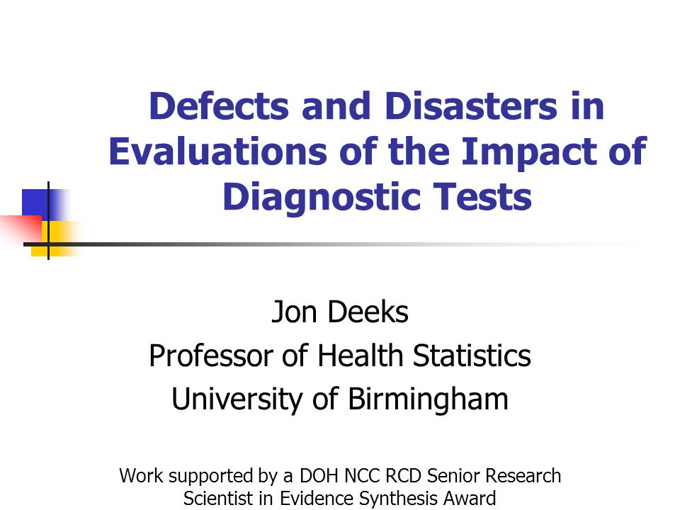 Defects and Disasters in Evaluations of the Impact of Diagnostic Tests
