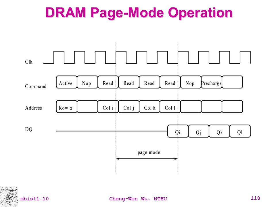 DRAM Page-Mode Operation