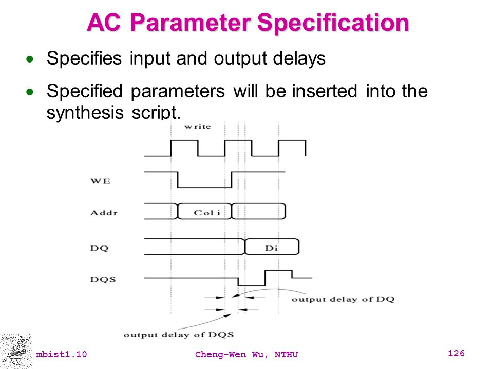 AC Parameter Specification