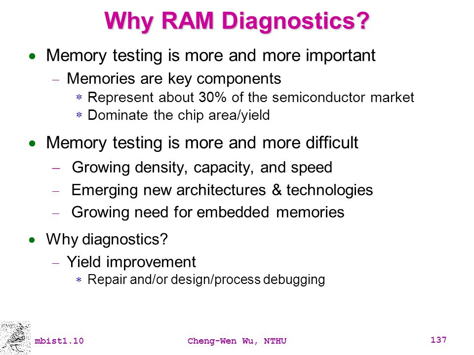 Why RAM Diagnostics Memory testing is more and more important