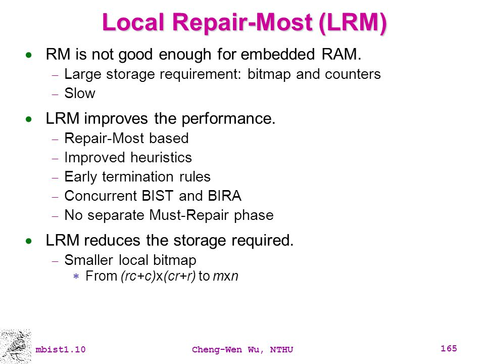 Local Repair-Most (LRM)