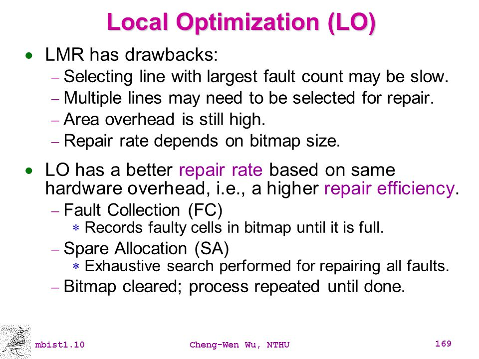 Local Optimization (LO)
