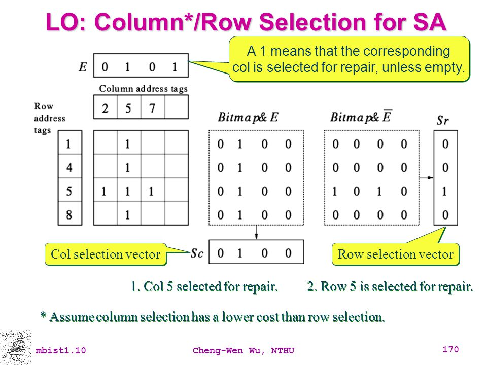 LO: Column*/Row Selection for SA