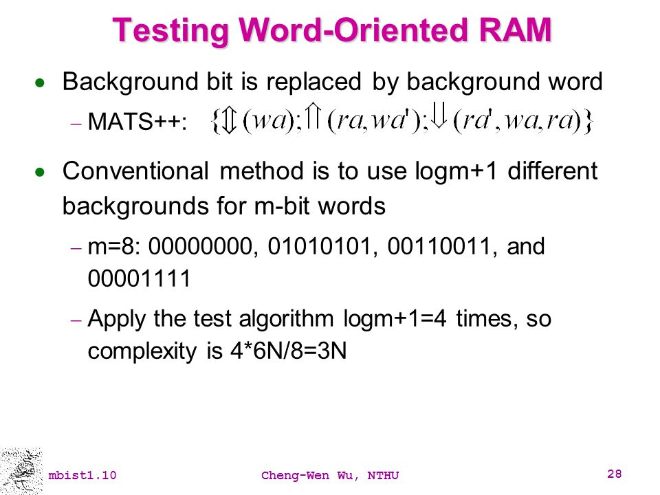 Testing Word-Oriented RAM