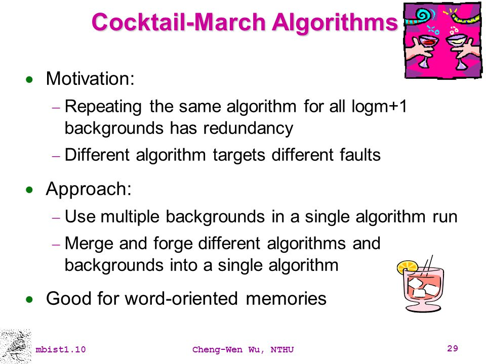 Cocktail-March Algorithms