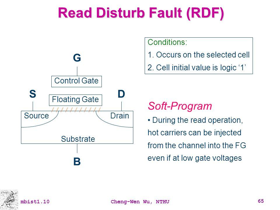 Read Disturb Fault (RDF)