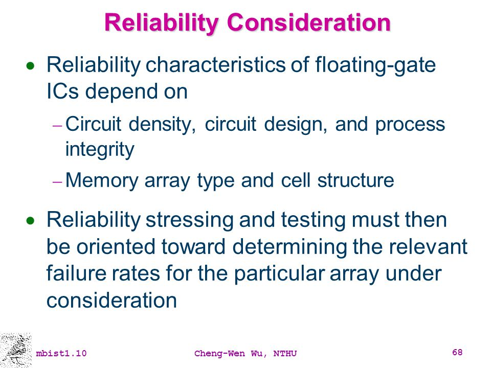 Reliability Consideration