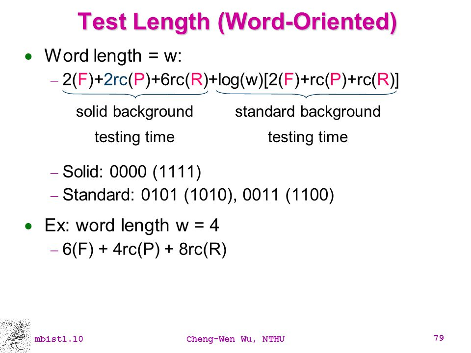 Test Length (Word-Oriented)