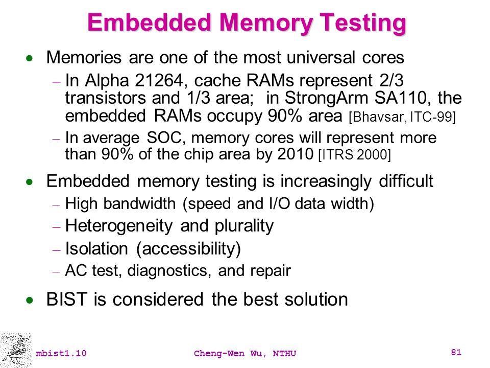 Embedded Memory Testing