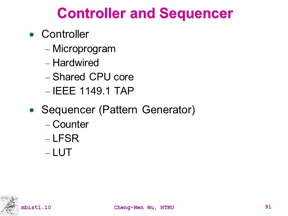 Controller and Sequencer