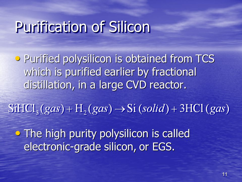 Purification of Silicon