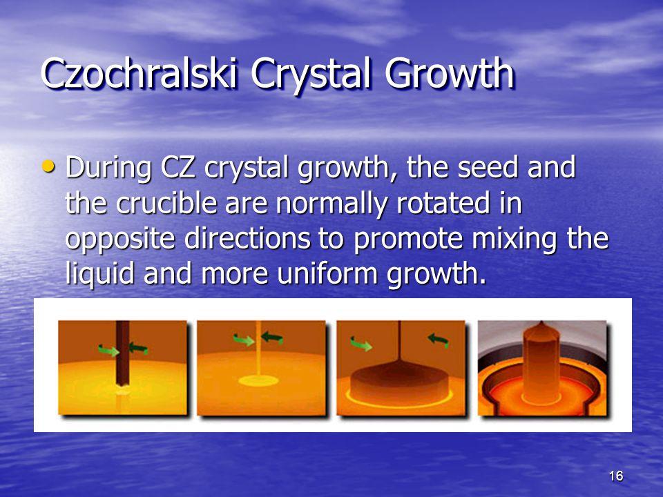 Czochralski Crystal Growth