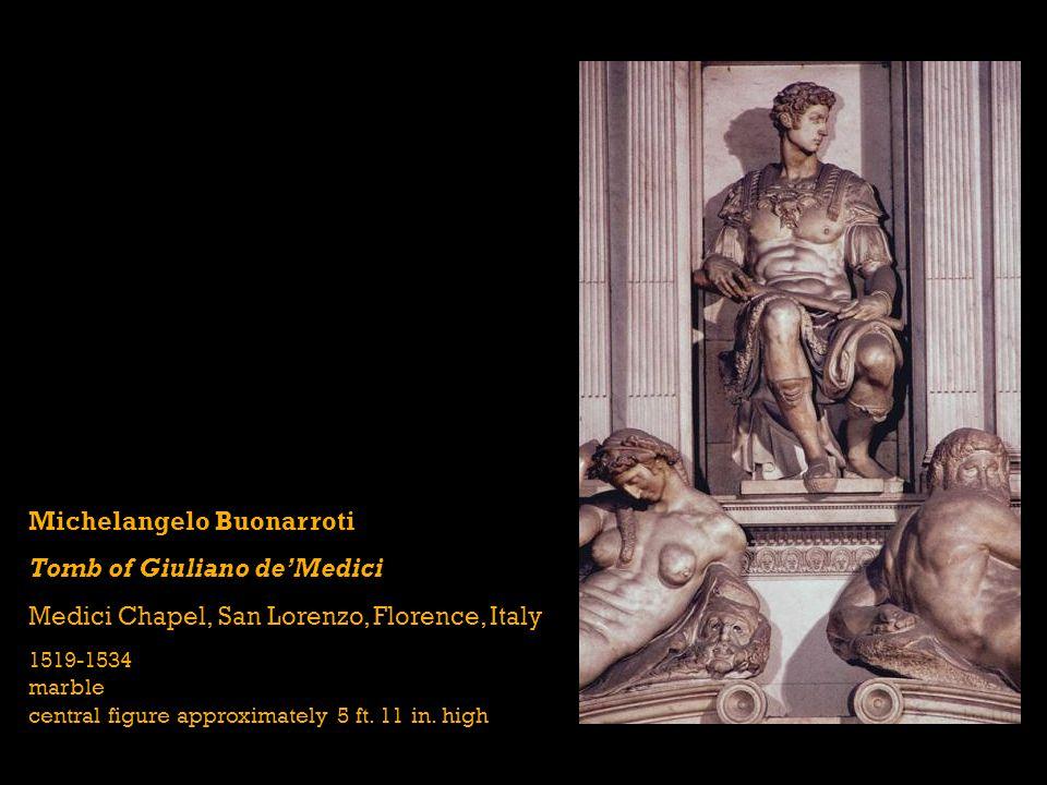 Michelangelo Buonarroti Tomb of Giuliano de'Medici