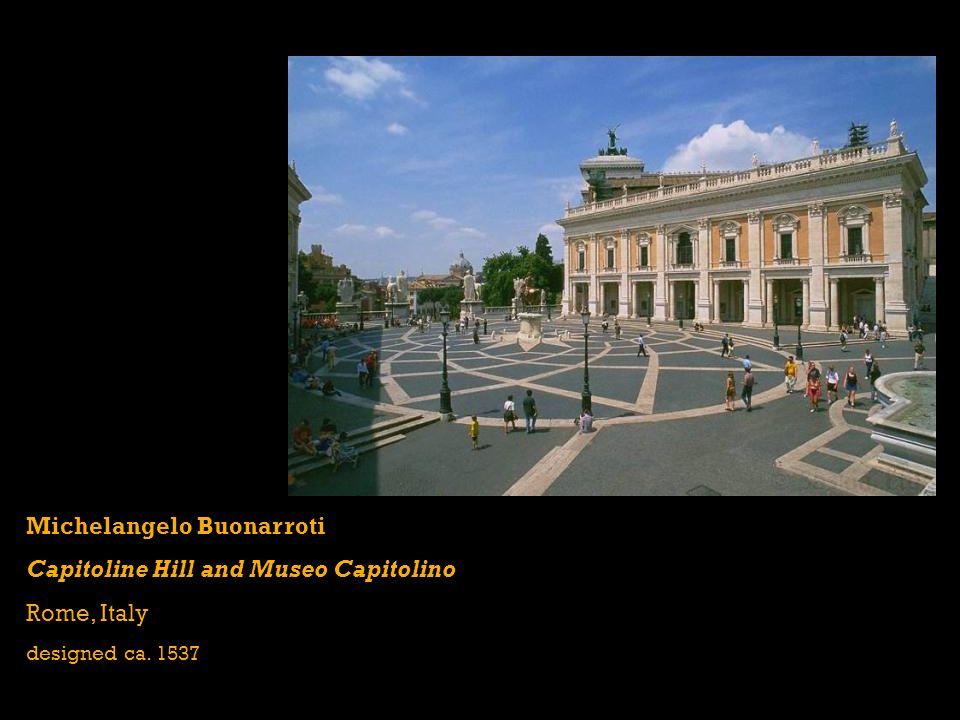 Michelangelo Buonarroti Capitoline Hill and Museo Capitolino