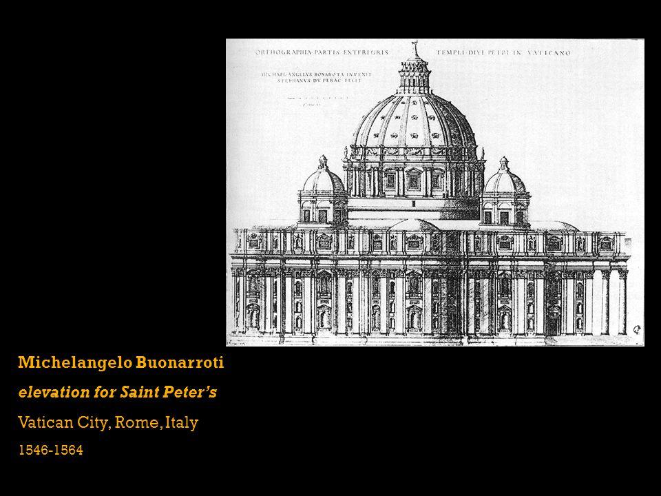 Michelangelo Buonarroti elevation for Saint Peter's