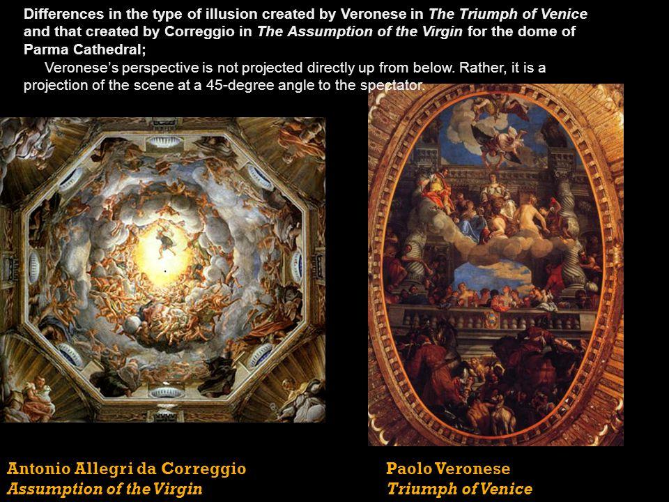 Antonio Allegri da Correggio Assumption of the Virgin Paolo Veronese