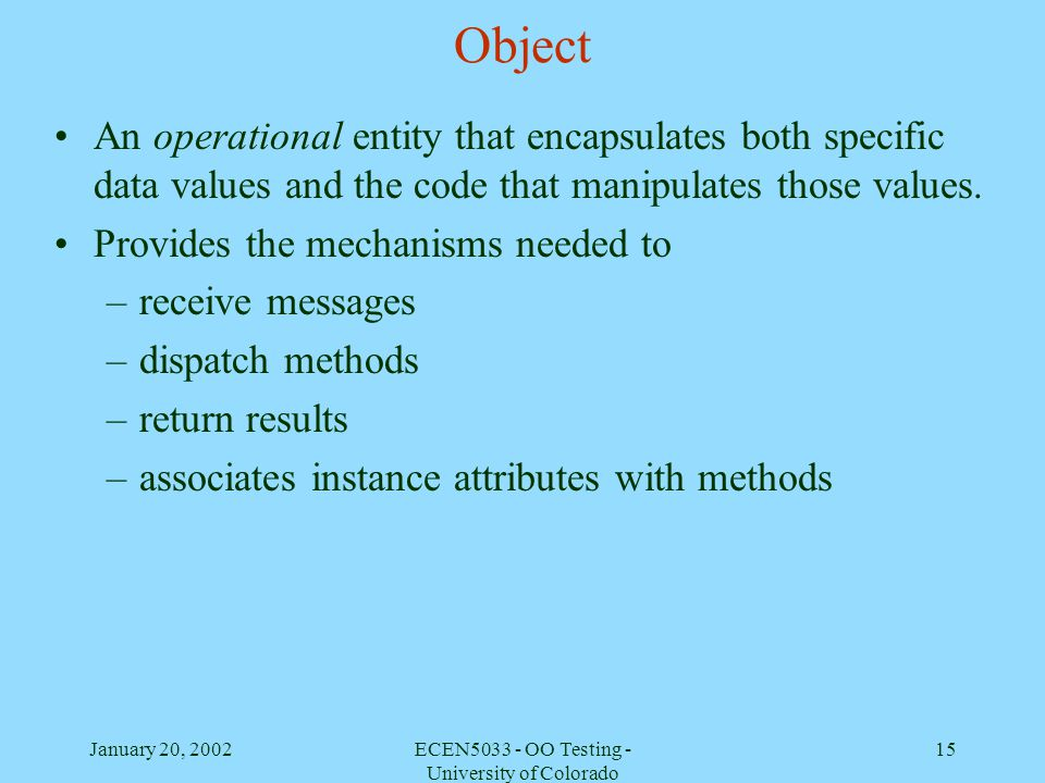 ECEN5033 - OO Testing - University of Colorado