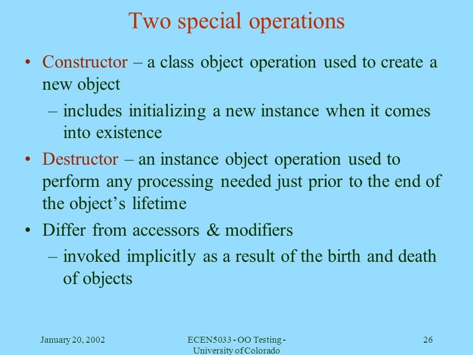 Two special operations