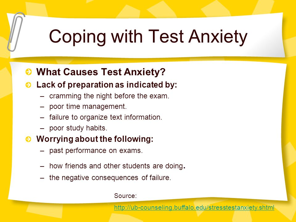 Coping with Test Anxiety