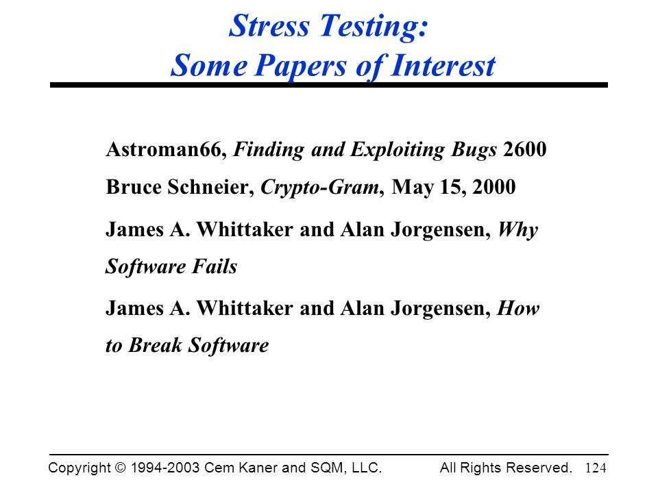 Stress Testing: Some Papers of Interest