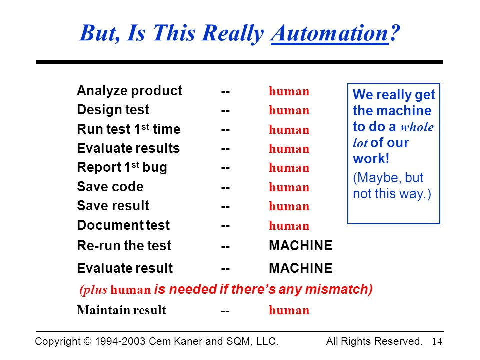 But, Is This Really Automation