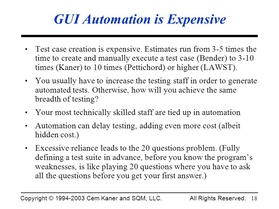 GUI Automation is Expensive