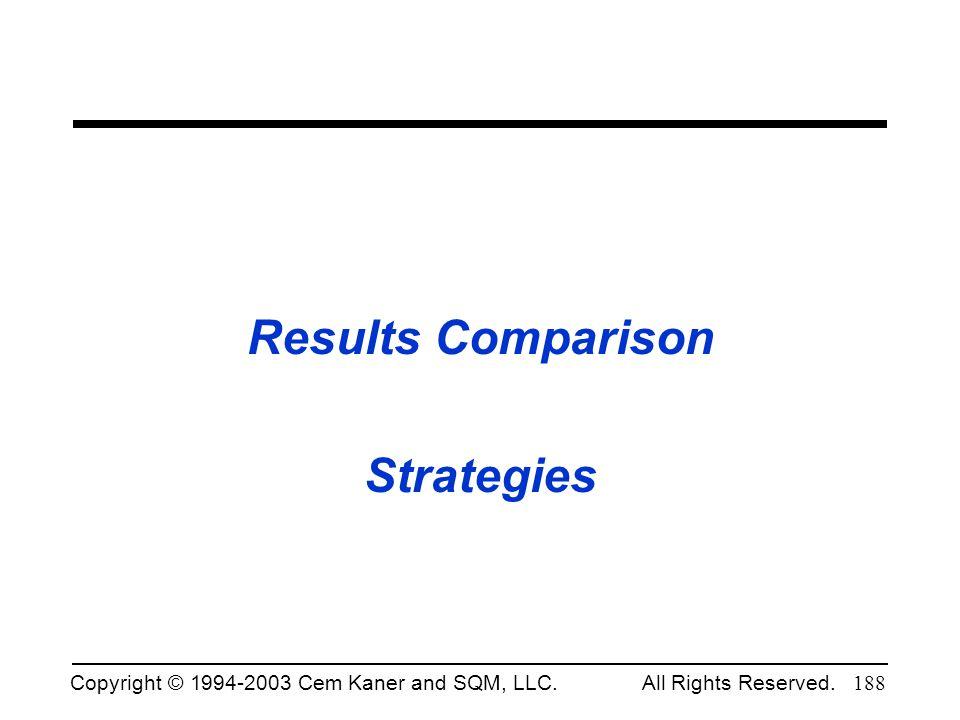 Results Comparison Strategies