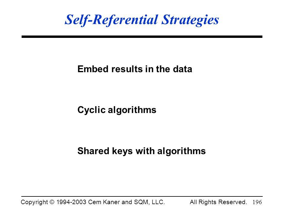 Self-Referential Strategies