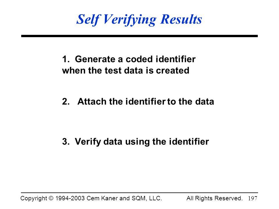 Self Verifying Results