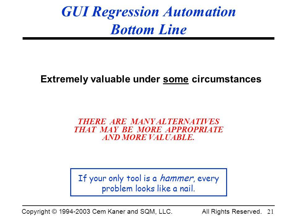 GUI Regression Automation Bottom Line