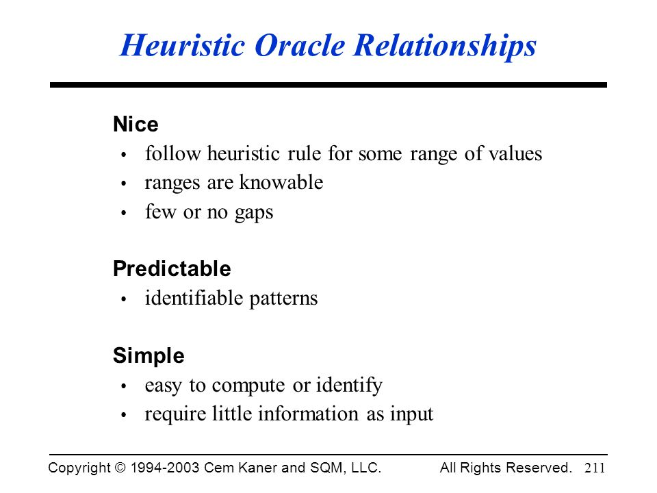 Heuristic Oracle Relationships