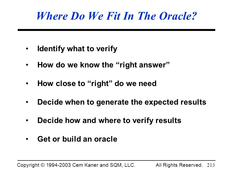 Where Do We Fit In The Oracle
