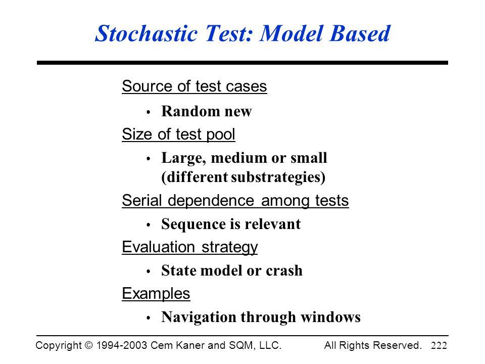 Stochastic Test: Model Based
