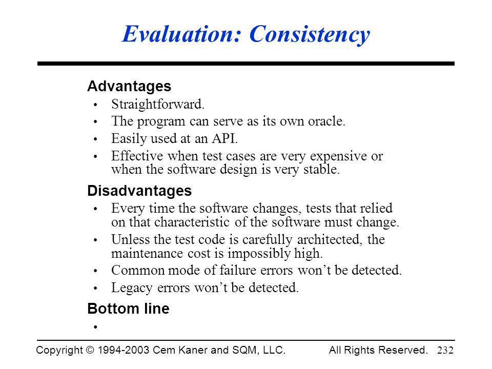 Evaluation: Consistency