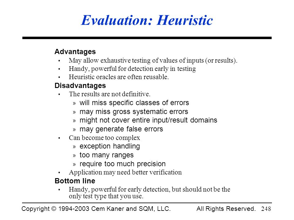 Evaluation: Heuristic