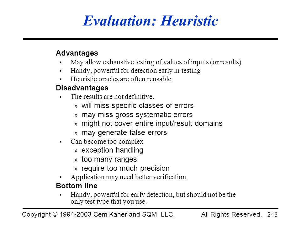 Evaluation: Heuristic