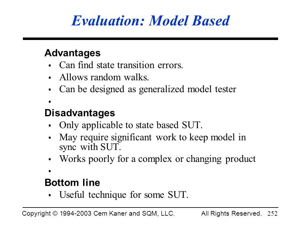 Evaluation: Model Based