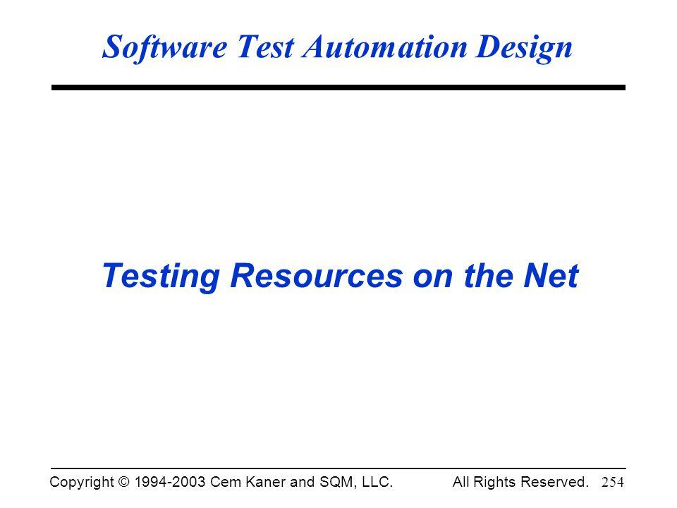 Software Test Automation Design